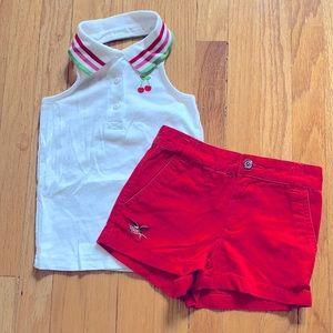 Girls Halter Top & Shorts Bundle